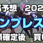 【競馬予想】エンプレス杯2020 枠順確定後 買い目