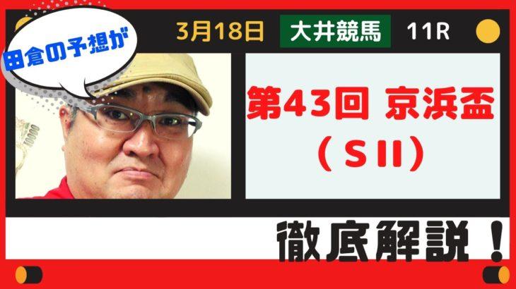 【田倉の予想】3月18日大井競馬・11R  京浜盃(SII)徹底解説!