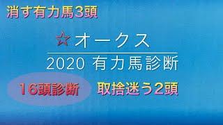 【競馬予想】 オークス 優駿牝馬 2020 事前予想 有力馬診断