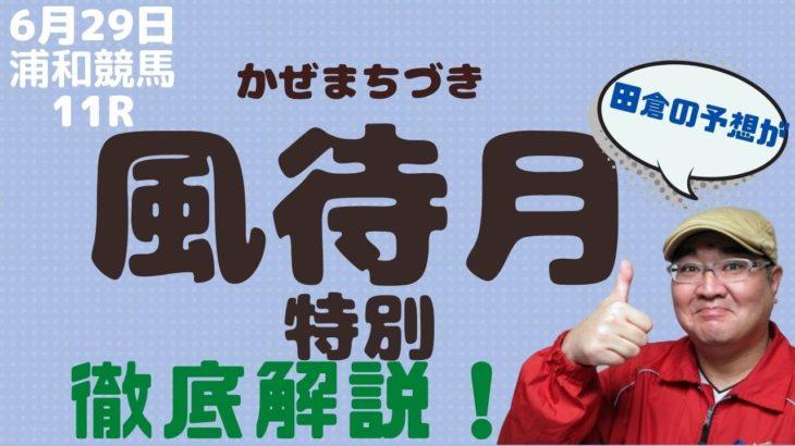 【田倉の予想】6月29日浦和競馬 風待月特別 徹底解説!