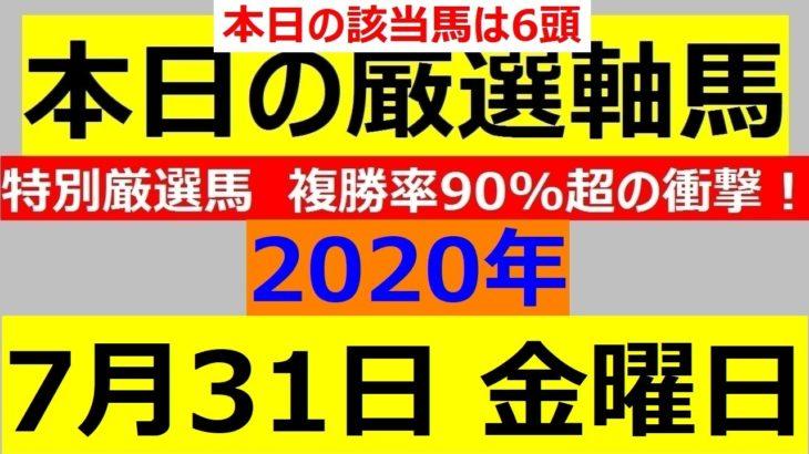 毎日更新 【軸馬予想】■名古屋競馬■園田競馬■2020年7月31日(金)