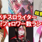 女性パチスロライター・演者 Twitterフォロワー数ランキング【2020年7月版】