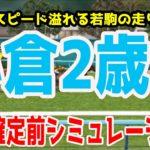 2020 小倉2歳ステークス シミュレーション【競馬予想】枠順確定前