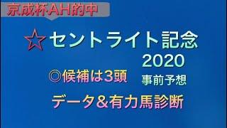 【競馬予想】 セントライト記念 2020  データ&有力馬診断 事前予想