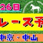 【週間競馬予想TV】2020年9月26日(土) 中央競馬全レース予想〜狙い馬・推奨レース〜を公開。中京・中山の平場、特別戦、重賞レース。