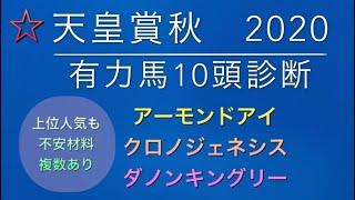 【競馬予想】 天皇賞秋 2020 有力馬診断 事前予想