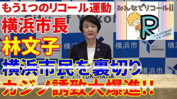 【横浜市】カジノ白紙を掲げて当選した横浜市長がカジノ誘致へ驀進!!市民の声を聞かない市長はリコールだ!!もう一つのリコール運動!!【林文子】